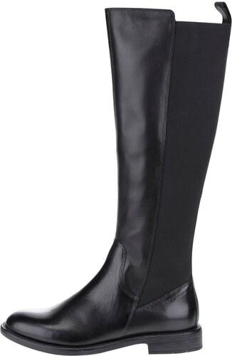 e35cffef50 Čierne dámske kožené čižmy s gumovou vsadkou Vagabond Amina - Glami.sk