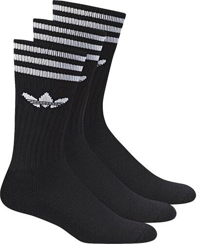 adidas Solid Crew Sock 3 Pack černá 27-30 - Glami.cz 6ad9922da7