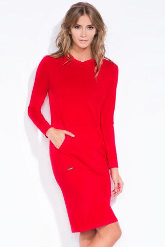 e030b74b2006 Červené šaty Fobya F318 - Glami.sk