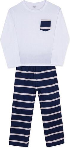Pyjama Maille Long Imprimé - Bleu