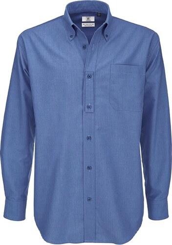 Pánská košile s dlouhým rukávem Oxford B C - Glami.cz a5e1c903ee