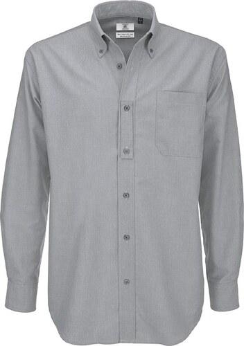 fc8dc3bdc84 Pánská košile s dlouhým rukávem Oxford B C - Glami.cz