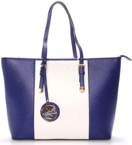 Gessy Velké kabelky   Nákupní tašky Elegantní kabelka přes rameno modro-bílá  - G7684 Gessy fe57c7e7f2f