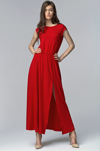 NIFE Dámské maxi šaty Havana červené - Glami.cz 8063f4fa9a