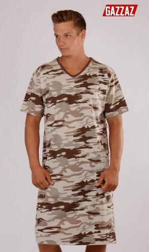Gazzaz Pánská noční košile s krátkým rukávem Army - Glami.cz 0445158b26