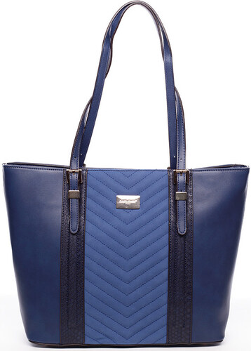 6ccb6a3ee8 David Jones Velké kabelky   Nákupní tašky Dámská kabelka přes rameno modrá  - Luca David Jones