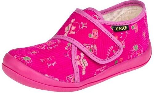 Dětské papuče na suchý zip 4115445 FARE - Glami.cz 11b3410ea2