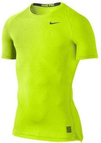 7220864278c NIKE2 Termo triko Nike Pro Cool Compression s krátkým rukávem XL ŽLUTÁ -  ŠEDÁ