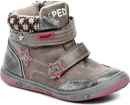 Dětská obuv Peddy PV-636-32-06 šedo růžové dívčí zimní boty - Glami.cz 7c18f93866