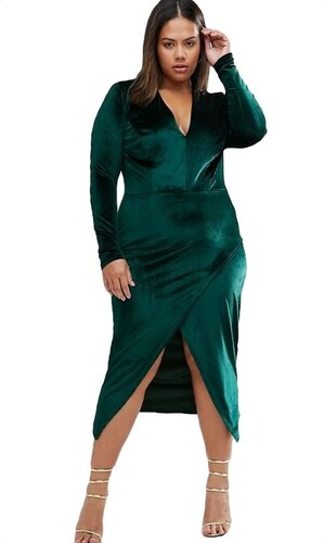 3e1613aa7206 HUSH HUSH Smaragdově zelené sametové šaty - Glami.cz
