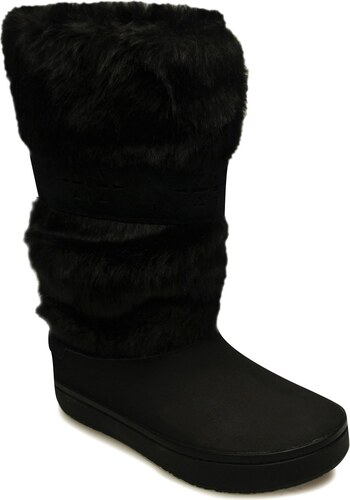 e5c7253a99b Zimní boty Crocs Modessa Furry dám. černá - Glami.cz