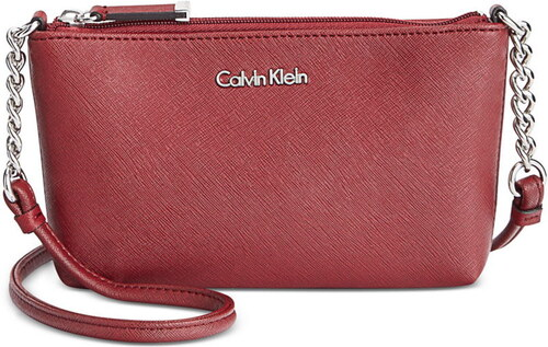 Calvin Klein mini crossbody kabelka saffiano leather valentine ... a81f0fca94b