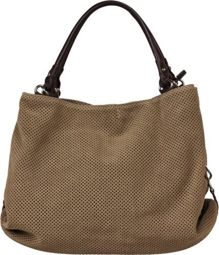 hnědé kožené kabelky Filomena Taupe