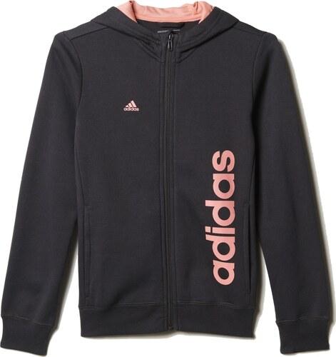 Dětská mikina adidas Linear Full Zip Hoodie B43353 - Glami.cz ac78265fca9