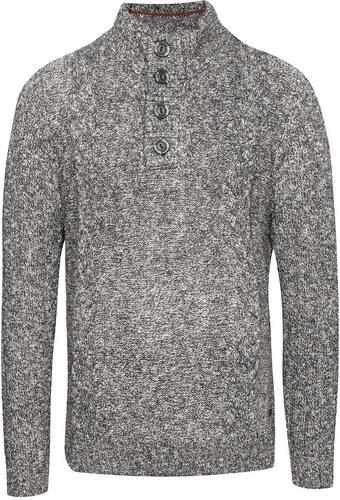 Šedý pánský svetr na knoflíky s.Oliver - Glami.cz 03b3ab65f9
