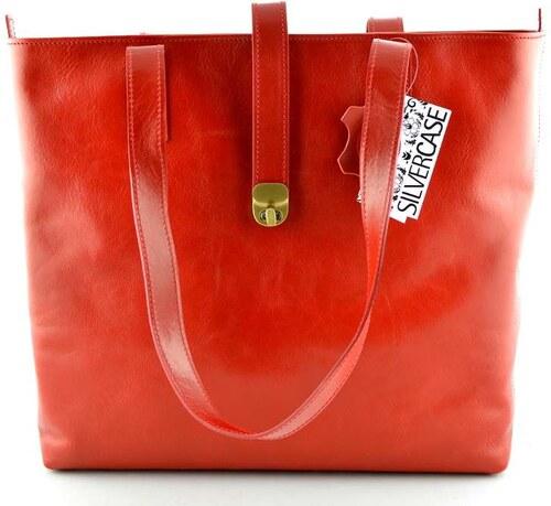 Silvercase - Sněžka Náchod Velká kožená kabelka Silvercase - červená ... 9b8f0de6b59