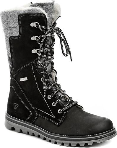 e2dbecb8324 Dámská obuv Tamaris 1-26269-27 černé kotníkové zimní boty - POŠTOVNÉ ZDARMA  -