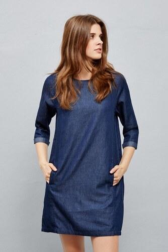 b9f5bd68c1c Moodo šaty dámské jeans 3 4 rukáv - Glami.cz
