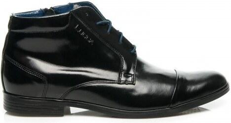 Pánské kožené boty Lucca Focus černé modré - černá - Glami.cz c1ed3851ba
