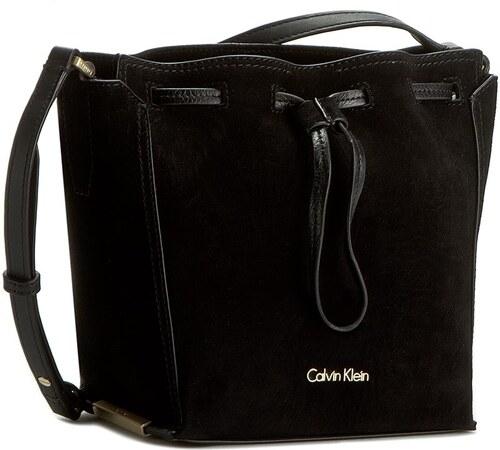 Kabelka CALVIN KLEIN BLACK LABEL - K3yla Suede Bucket Bag K60K602343 Black  001 d88fdf88041