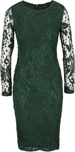 94f31927f202 Zelené čipkované šaty s dlhým rukávom AX Paris - Glami.sk