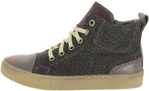 Sneaker high berry/brown