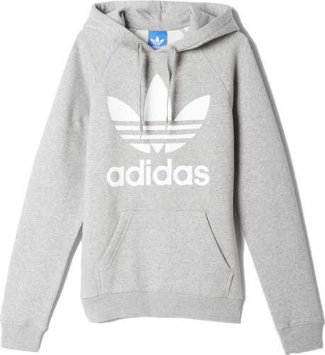 Pánská mikina adidas Originals Trefoil Hoody šedá - Glami.cz ccd5a73447