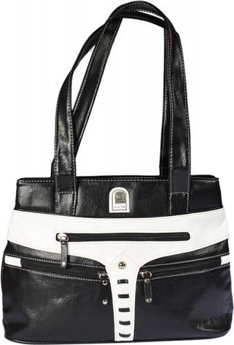 Dámská kabelka černobílá, D412 {name}