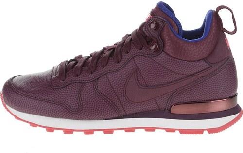 cd783463b7e Vínové kožené dámské kotníkové tenisky Nike Internationalist Mid Leather