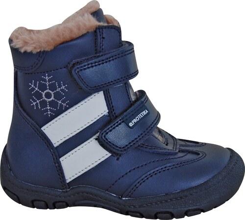 dc1700afff42 Protetika Chlapecké zimní boty Berger - modré - Glami.cz