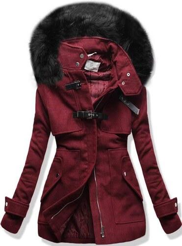 Mantel bordorot/schwarz 8948