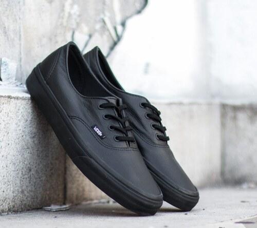 fa5902a33fb25 Vans Authentic Decon Premium Leather Black/Black - Glami.sk