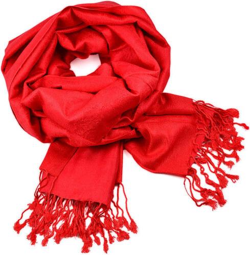 Šál teplý 69cz001-20 - červený - Glami.sk d93bbca9e5