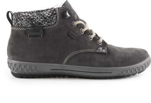 Rieker - Dámské kotníkové boty s ovčí vlnou a TEXovou membránou šíře G M6140 -45 f71a04250c