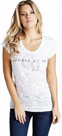 GUESS tričko Marion biele 291d3eba1ea