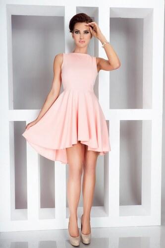 NUMOCO Asymetrické broskyňové šaty 33-1 odtiene farieb  ružová ... 6b8048310cc
