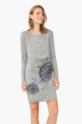 de118e14959c Desigual šedé melírované šaty Rita - Glami.cz