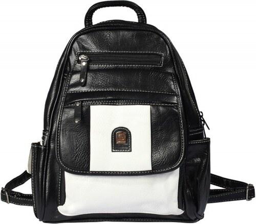 Batoh černobílý koženkový D220 {name}