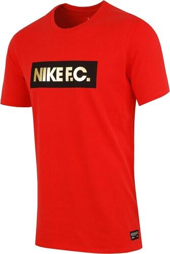 Červené pánské tričko Nike Fc Foil Tee 810505-696 - Glami.cz d8cb52bb0d