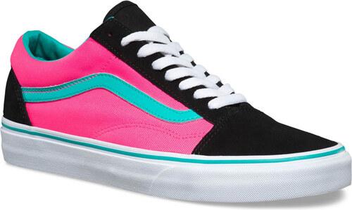 Vans U OLD SKOOL (BRITE) Black Neon Pink - Glami.cz 9ce1ea8109