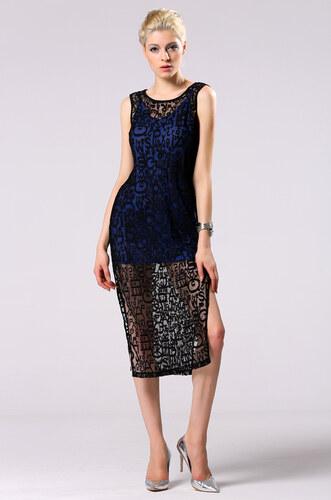 NoName 002 Dámské krajkové šaty černé modré 2v1 - Glami.cz 88704d6029