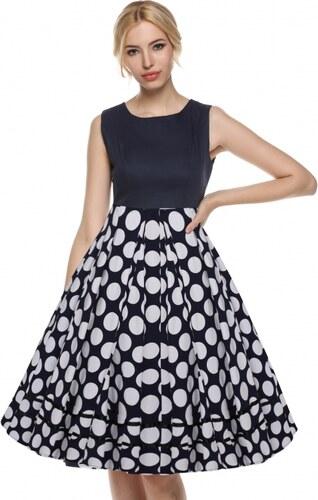 NoName 002 Dámské VINTAGE šaty černobílé puntíky - Glami.cz cc573d8740