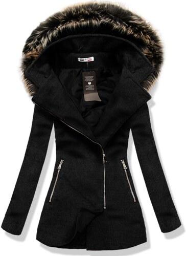 Čierny kabát 6257 - Glami.sk 1172f5eb112