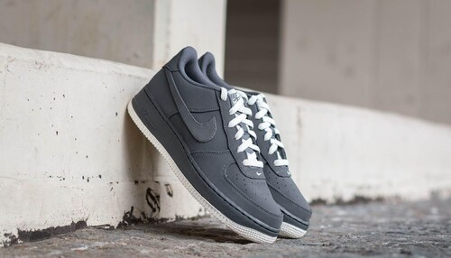 9b42d80d684 Nike Air Force 1 (GS) Dark Grey  Dark Grey-Sail - Glami.cz