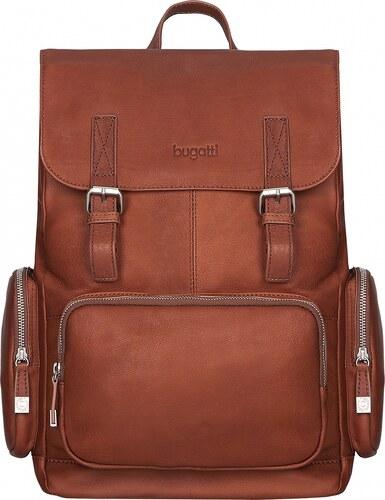 Bugatti Stylový kožený batoh na notebook Sartoria 49546307 koňak ... f494456dda