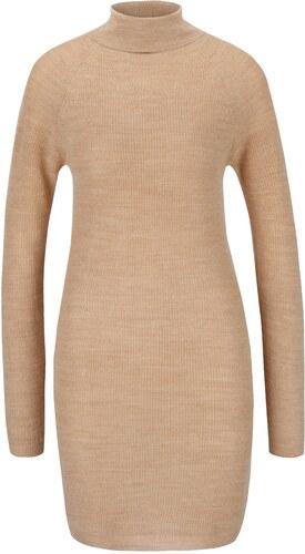 Světle hnědé svetrové šaty s rolákem Dorothy Perkins - Glami.cz f9d224ef052