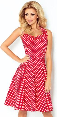 Dámské šaty Rockabilly pin up Numoco 30-19 červené s bílými puntíky ... 82ba131d8a