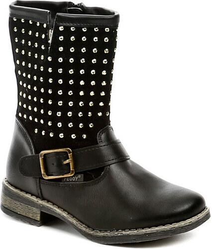 6fc9daffbf8 Peddy Kotníkové kozačky Dětské PV-533-36-01 černé dětské zimní boty Peddy