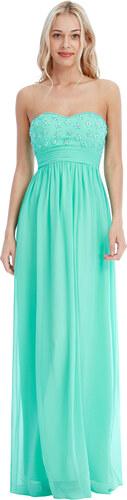 1ce1b5ab9ec Goddess Dlouhé plesové šaty NATALIE MINT Barva  Mentolově zelená ...