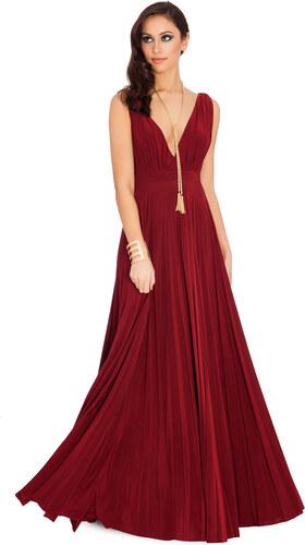 fd030500c64 Goddess Dlouhé plesové šaty KAITLYN WINE Barva  Vínová